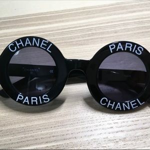 Chanel Paris Black 1993 Runaway Sunglasses